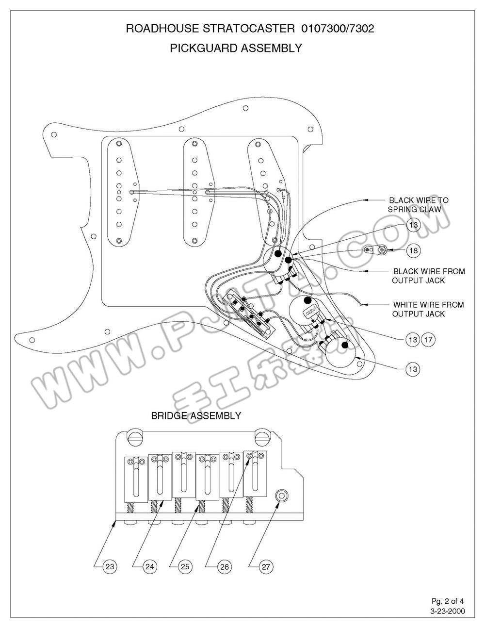 fender usa 010 系列 stratocaster 电路图最全集合之